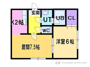 札幌市厚別区厚別西2条1丁目1賃貸アパート間取図面