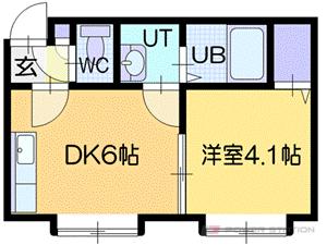 札幌市厚別区厚別東2条1丁目0賃貸アパート間取図面