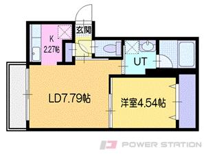 札幌市厚別区青葉町4丁目1賃貸マンション間取図面