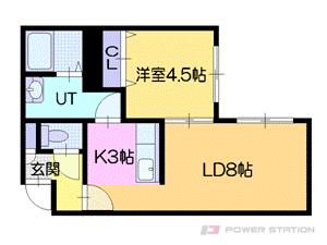札幌市厚別区厚別中央1条2丁目0賃貸マンション間取図面