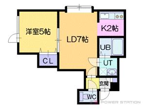 札幌市厚別区もみじ台東4丁目0賃貸アパート間取図面