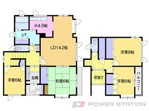 札幌市厚別区厚別北3条5丁目0一戸建貸家間取図面