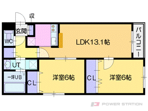 札幌市厚別区大谷地西4丁目0賃貸マンション間取図面