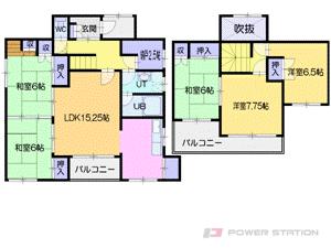 札幌市厚別区厚別東1条3丁目1一戸建貸家間取図面