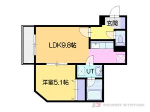 札幌市厚別区厚別東3条3丁目1賃貸マンション間取図面