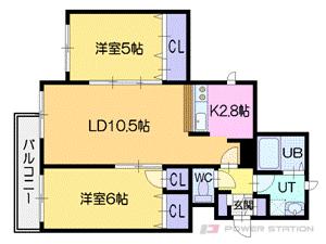 札幌市厚別区厚別中央3条3丁目1賃貸マンション間取図面