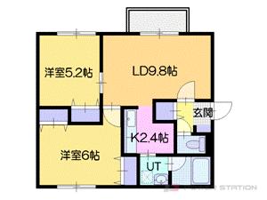 札幌市厚別区厚別南1丁目0賃貸マンション間取図面