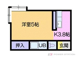 札幌市厚別区厚別中央5条4丁目0賃貸アパート間取図面