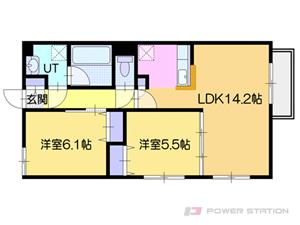 オルセー厚別中央IV:1号室タイプ