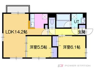 オルセー厚別中央IV:2号室タイプ