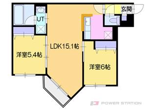 オルセー厚別中央IV:4号室タイプ