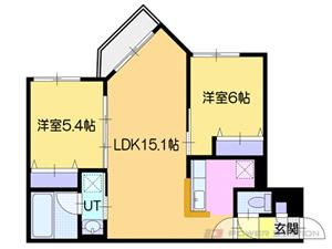オルセー厚別中央IV:5号室タイプ