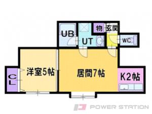 札幌市厚別区厚別西4条2丁目0賃貸アパート間取図面