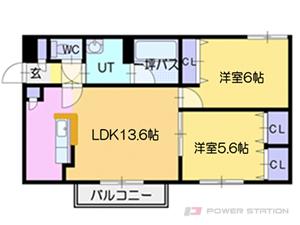 札幌市厚別区大谷地東7丁目1賃貸マンション間取図面