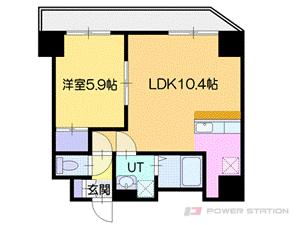 札幌市厚別区厚別中央3条5丁目0賃貸マンション間取図面