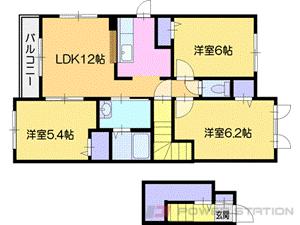 新札幌2LDKアパート図面
