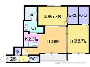 札幌市厚別区厚別中央2条1丁目0賃貸マンション間取図面