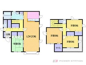 札幌市厚別区厚別西5条4丁目0一戸建貸家間取図面