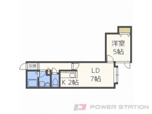 札幌市厚別区厚別東5条4丁目0賃貸アパート間取図面