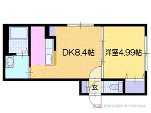 札幌市厚別区厚別中央2条2丁目1賃貸マンション間取図面