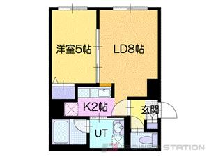 札幌市厚別区厚別中央4条5丁目0賃貸アパート間取図面