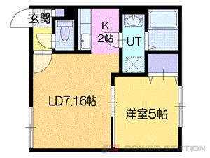 札幌市厚別区厚別西5条5丁目0賃貸アパート間取図面