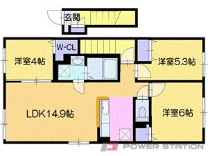 札幌市厚別区厚別中央3条3丁目01賃貸アパート間取図面
