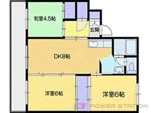 大谷地3DKマンション図面