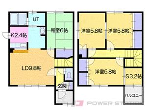 札幌市厚別区厚別西5条1丁目0テラスハウス間取図面
