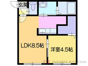 札幌市厚別区厚別中央3条2丁目01賃貸マンション間取図面