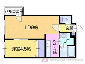 札幌市厚別区厚別南2丁目11賃貸マンション間取図面