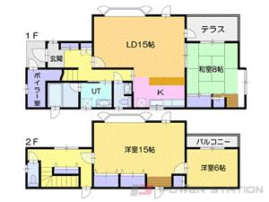 札幌市厚別区青葉町2丁目0一戸建貸家間取図面