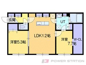 札幌市厚別区厚別中央3条6丁目11賃貸マンション間取図面