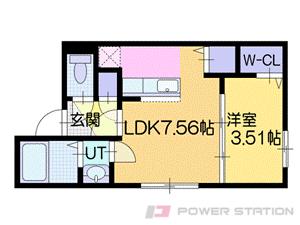 札幌市厚別区厚別中央4条2丁目01賃貸マンション間取図面
