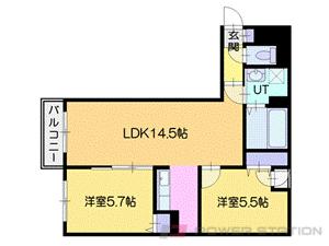 札幌市厚別区厚別中央3条3丁目11賃貸マンション間取図面