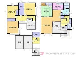札幌市厚別区厚別中央5条2丁目0一戸建貸家間取図面