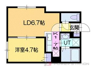 札幌市厚別区厚別中央4条3丁目01賃貸マンション間取図面