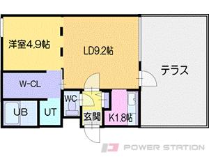 札幌市厚別区厚別中央2条2丁目01賃貸マンション間取図面