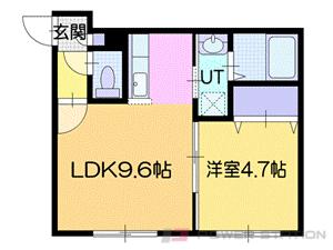 札幌市厚別区厚別中央1条2丁目01賃貸マンション間取図面