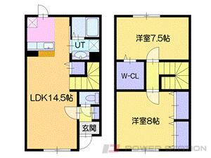札幌市厚別区上野幌2条3丁目0賃貸アパート間取図面
