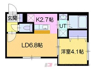 札幌市厚別区厚別中央2条6丁目01賃貸マンション間取図面