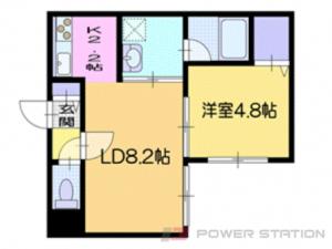 新札幌1LDKマンション図面