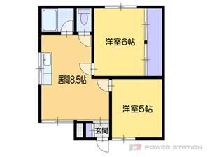 小樽市オタモイ1丁目1賃貸アパート間取図面