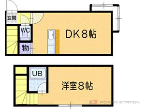 小樽築港1DKアパート図面