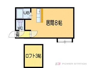 小樽築港1Rアパート図面