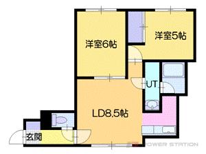 小樽市オタモイ1丁目0賃貸アパート間取図面