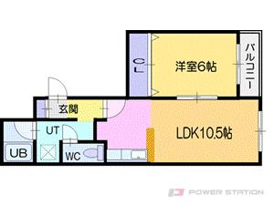 小樽市花園4丁目0賃貸マンション間取図面