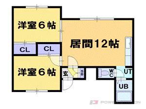 ヴィンテージ花園:2LDK(2号室タイプ)