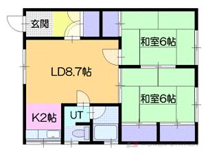 小樽市幸4丁目1賃貸アパート間取図面
