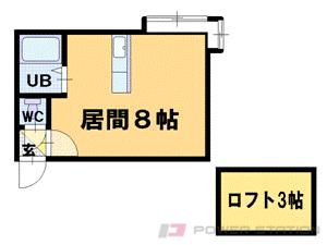 小樽市花園4丁目0賃貸アパート間取図面
